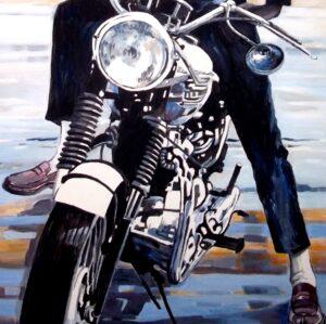 the blue rider - moto